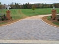 paver threshold with cobble edging