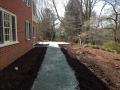 removed concrete and installed base