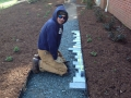 soapstone edging for path