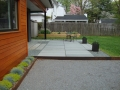 thermal treated bluestone patio, treads are set in gravel