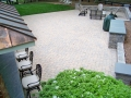 paver patio with segmental fire pit and seat walls