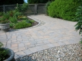 paver walkway with cobble and chalet edging