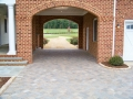 completion of portico pavers