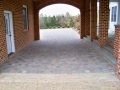 another view of completed portico pavers