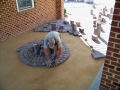 laying a circle pattern in the portico